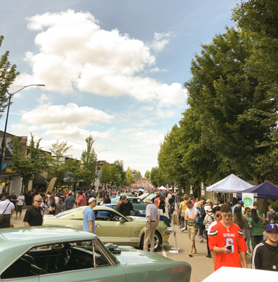Hastings Street during Hat's Off festival in Burnaby Heights